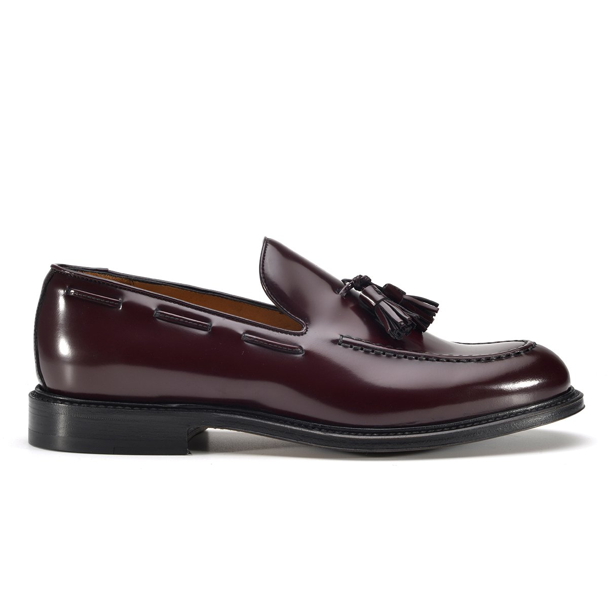 mocassini goodyear di lusso bordeaux