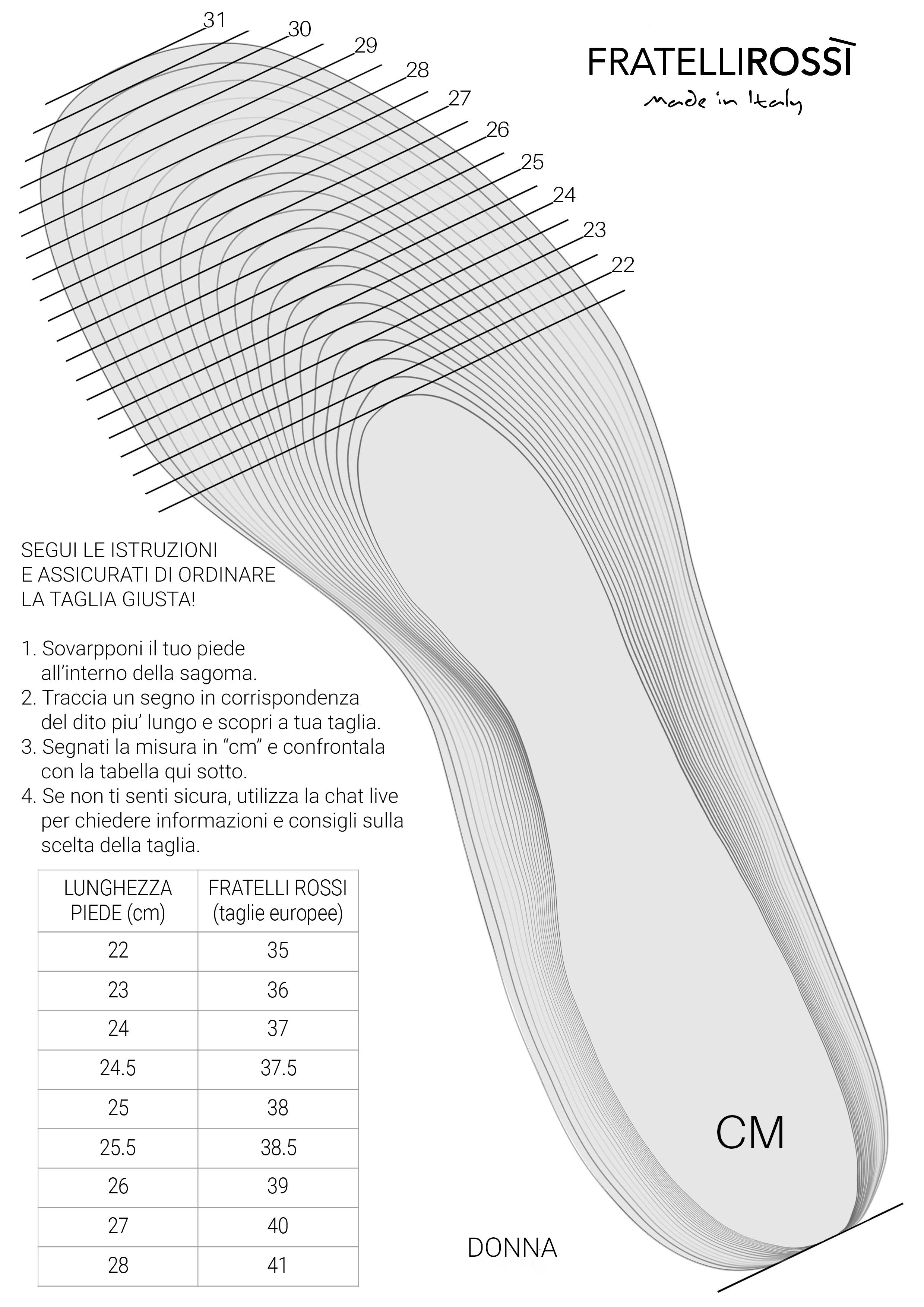 Taglie scarpe donna